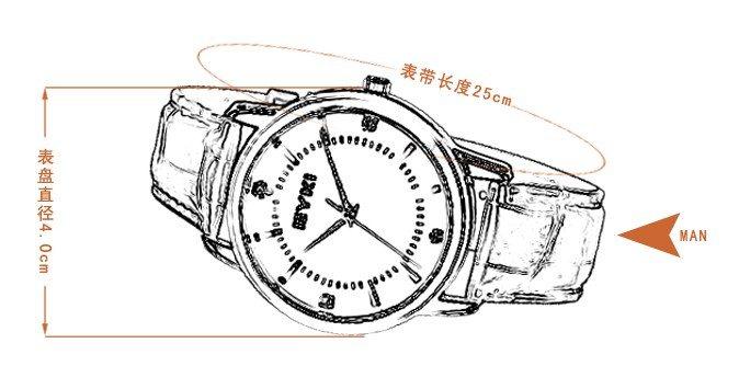 艾奇情侣手表 正品新款韩版时尚情侣表 皮带表带防水